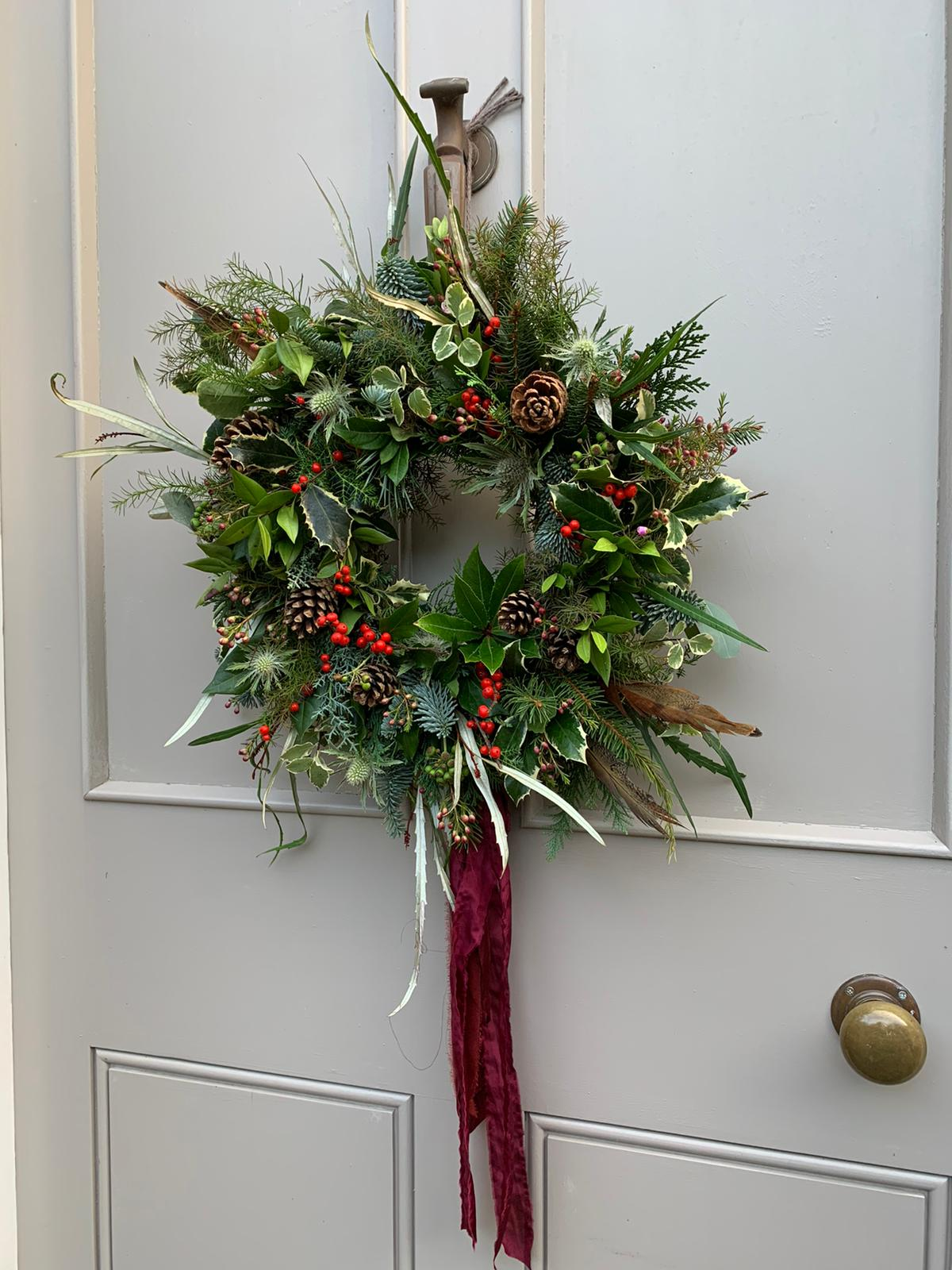 Burgundy wreath
